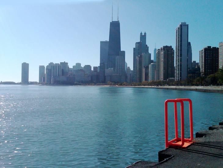 Chicago Cityscape with COLOR