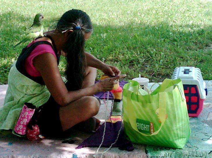 Birdwoman of Rogers Park, Illinois, 8.22.11