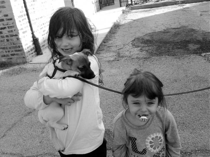 Little Girls With Their New Puppy, 10.11.11