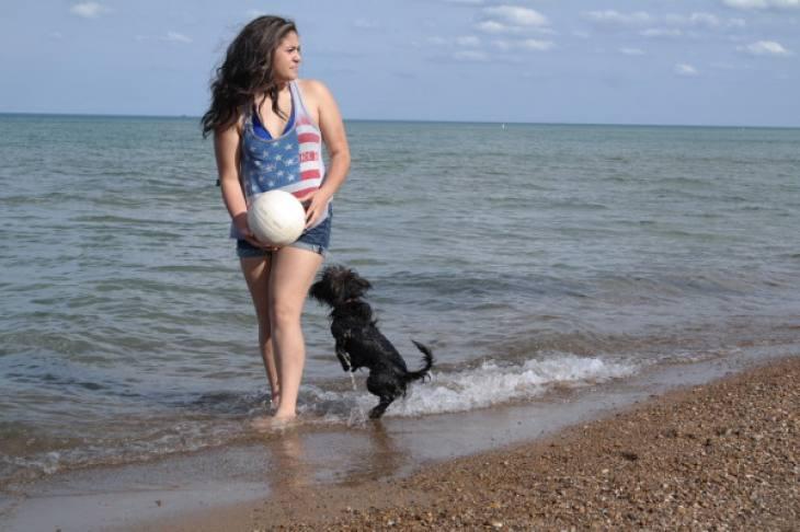 Girl On Beach Memorial Day 5.25.15